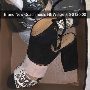Coach authentic wedge heels